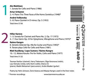 HjaK Variatio Delectat CD tagakülg